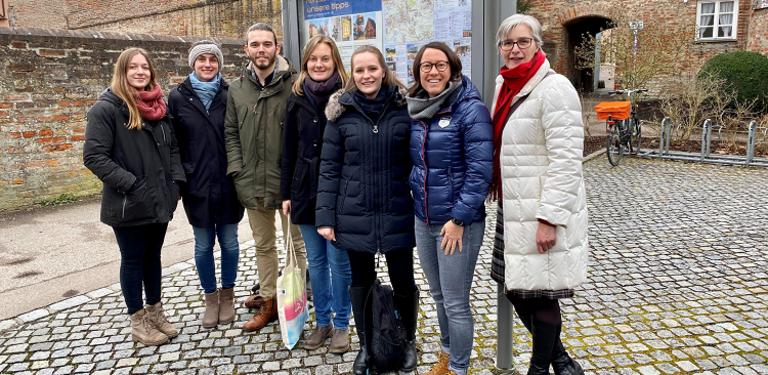 Bild des Teams der Professur für Regionale Geographie der Universität Passau zu Besuch in Donauwörth
